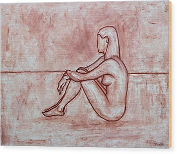 Nude 26 Wood Print by Patrick J Murphy