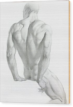 Wood Print featuring the drawing Nude 3 by Valeriy Mavlo
