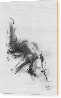 Nude 4 Wood Print by Ani Gallery