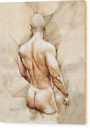 Nude 40  Wood Print by Chris Lopez