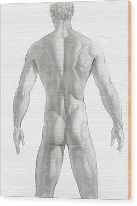 Wood Print featuring the drawing Nude 7 by Valeriy Mavlo