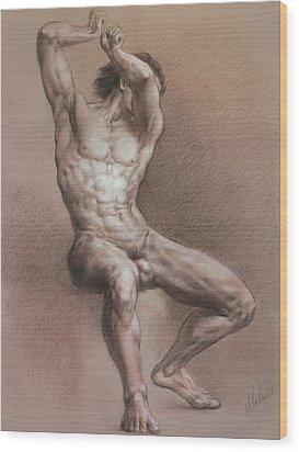 Nude 9 Wood Print by Valeriy Mavlo