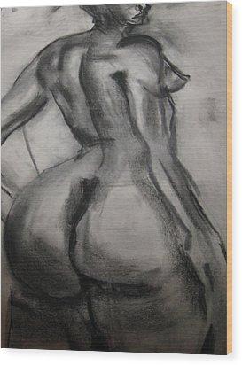 Nude Buttocks Wood Print