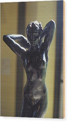 Nude By Rodin Wood Print by Carl Purcell