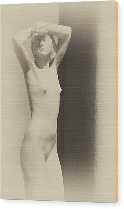 Nude Wood Print by Carolyn Dalessandro
