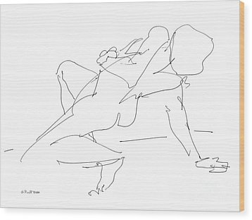 Nude-female-drawing-17 Wood Print