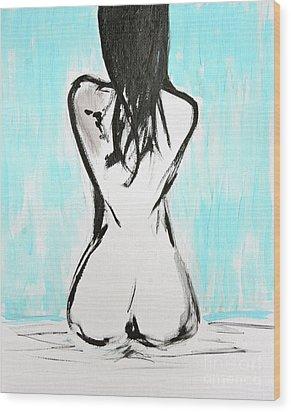 Nude Female Wood Print