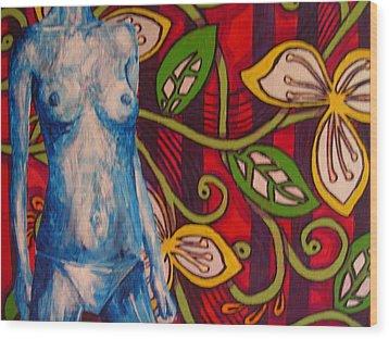 Nude Flower Wood Print by Lynne