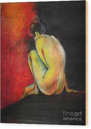 Nude- Introspection Wood Print