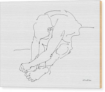 Nude Male Drawings 8 Wood Print by Gordon Punt
