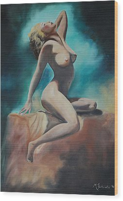 Nude Wood Print by Margaret Fortunato