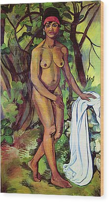 Nude Wood Print by Marie Clementine Valdon