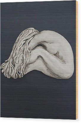 Nude Sculpture Wood Print by Melissa Florentino