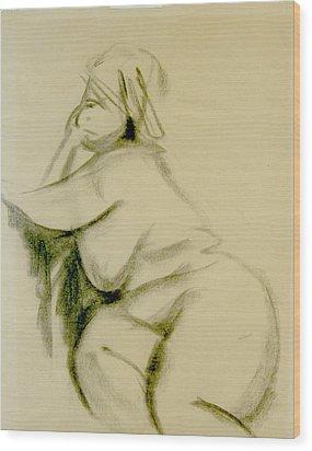 Nude Study Wood Print by Howard Stroman