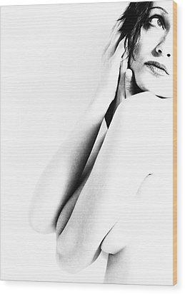 Nudes Bw Wood Print by Falko Follert