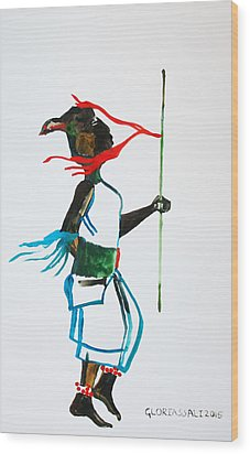 Nuer Dance - South Sudan Wood Print by Gloria Ssali