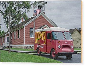 Nueske Meat Store Wood Print