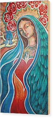 Nuestra Senora Maestosa Wood Print by Shiloh Sophia McCloud