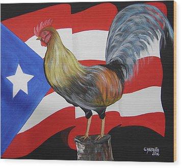 Nuestro Orgullo  Meaning Our Pride Wood Print by Gloria E Barreto-Rodriguez