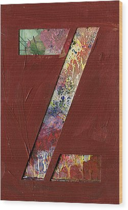 The Letter Z Wood Print