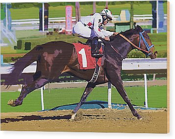 Number One Racing Wood Print by Clarence Alford