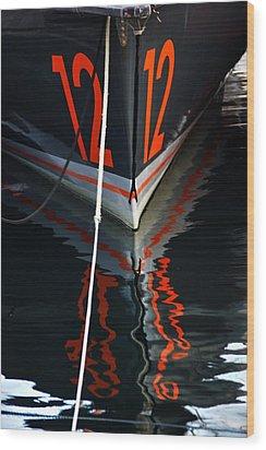 Number12 Wood Print by Karo Evans
