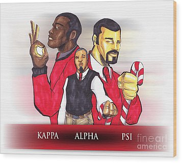 Nupes R' Us Wood Print by Tu-Kwon Thomas