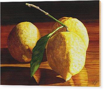 Nurse Beckys Lemons Wood Print by Catherine G McElroy