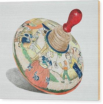 Nursery Rhyme Top Wood Print by Glenda Zuckerman