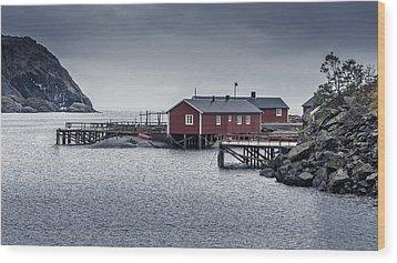 Nusfjord Rorbu Wood Print