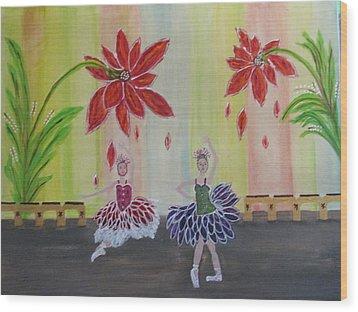 Nutcrackers Waltz Of The Flowers Wood Print