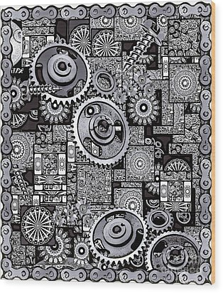 Nuts And Bolts Wood Print