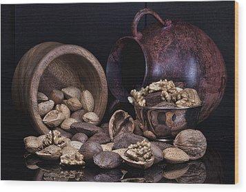Nuts Wood Print by Tom Mc Nemar