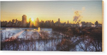 Ny Winter Panaroma Wood Print by Ariane Moshayedi