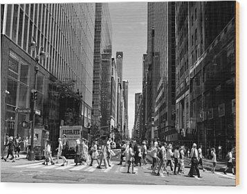 Nyc 42nd Street Crosswalk Wood Print