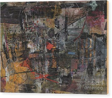 Wood Print featuring the painting Nyc Abstract by Robert Anderson