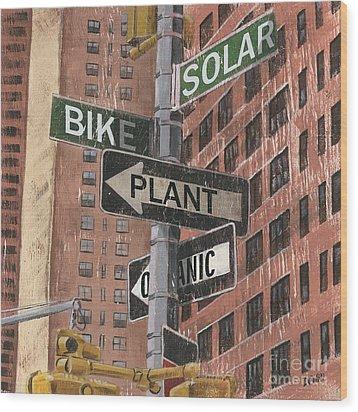 Nyc Broadway 2 Wood Print by Debbie DeWitt