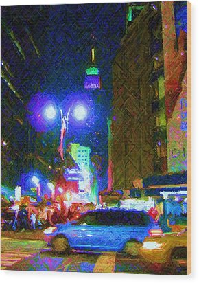 Wood Print featuring the photograph Nyc In Tie Dye by Susan Carella