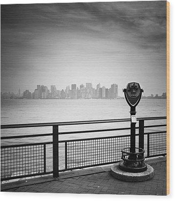 Nyc Manhattan View Wood Print by Nina Papiorek