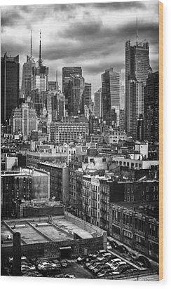 NYC Wood Print by Mauricio Jimenez