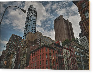 Wood Print featuring the photograph Nyc - Tribeca 002 by Lance Vaughn