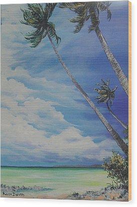 Nylon Pool Tobago. Wood Print by Karin  Dawn Kelshall- Best