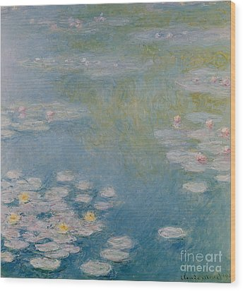 Nympheas At Giverny Wood Print by Claude Monet