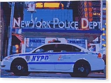 Nypd Color 16 Wood Print