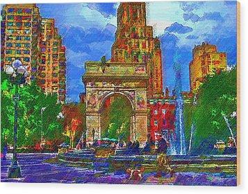 NYU Wood Print