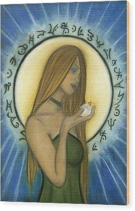 Nyx Goddess Of Night Wood Print by Natalie Roberts