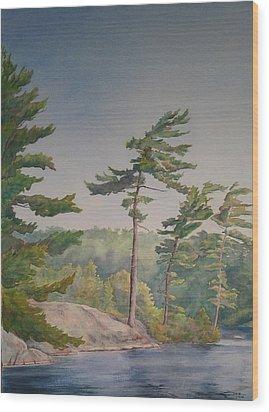 O Canada No.1 Wood Print by Debbie Homewood
