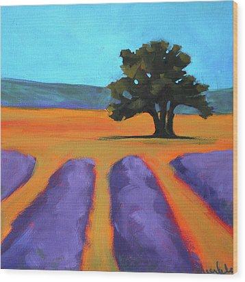 Oak And Lavender Wood Print by Nancy Merkle