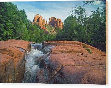 Oak Creek And Cathedral Rock Sedona Wood Print
