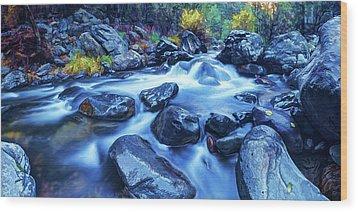 Oak Creek Flow Wood Print by ABeautifulSky Photography
